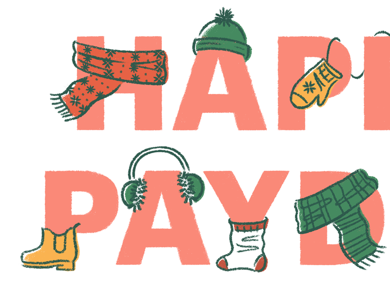 Winter happy payday hero finances money paycheck small business winter clothes winter happy payday benefits