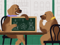 A doggo spin on an article about mentoring.