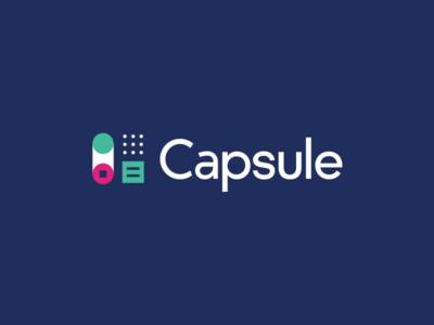 Capsule has rebranded! color logo focus lab control panel typography mark capsule branding