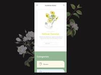Flowerpedia - Application concept