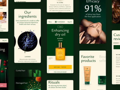 Mobile e-commerce - Hair products