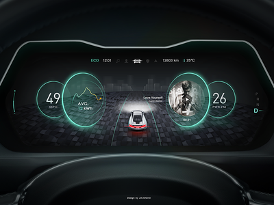 New Design In Car Dashboard No 3 By Yo Jia Dribbble