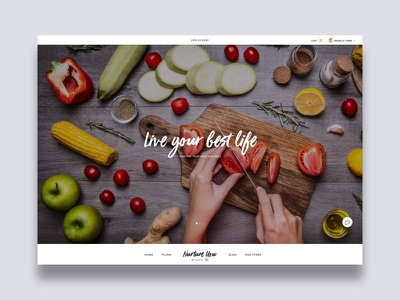 Nutritionist Homepage whitespace white black yellow nutrition food script