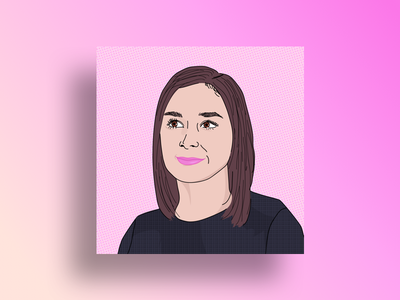 Portrait Cover illustrator headshot girl portrait