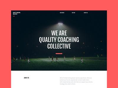 Sports Coaching Website team minimal responsive black red sport