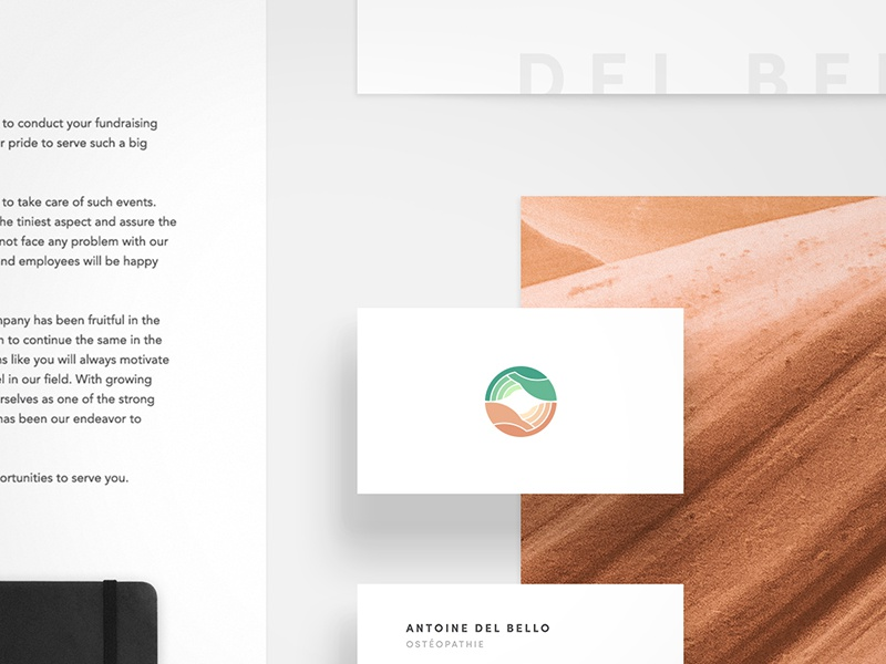 Branding case study shadow isometric mockup paper nature business card card stationary branding
