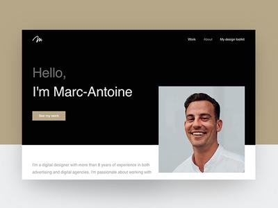 Website refresh about profile portfolio