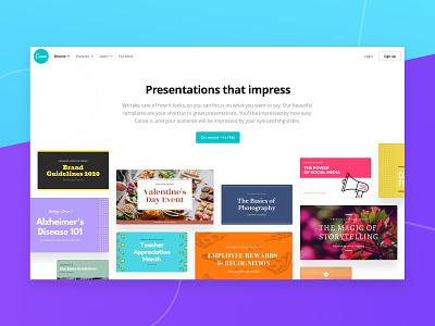 Presentations landing page landing page web design marketing