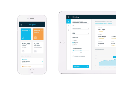 Insights dashboard chart analytics app ui banking investment property finance dashboard
