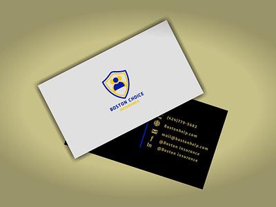 Boston Business Card logo design branding design
