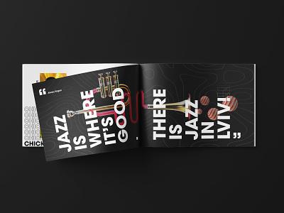 Brochure Design - Leopolis Jazz Fest festival brochure adobe clean design stylish modern minimal graphic design brochure brochure design collateral branding and identity identity design design cinema 4d jazz festival jazz