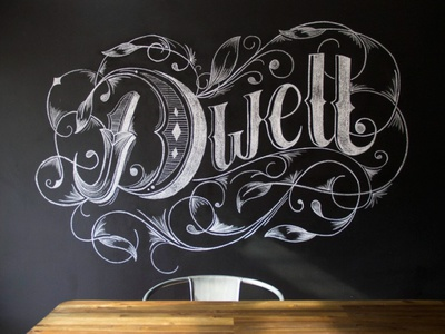 """Dwell"" – a 6′ Chalk Mural."