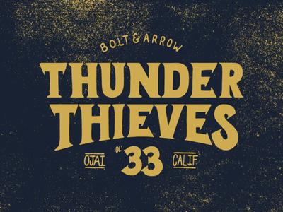 Thunder Thieves - A hand-drawn design for Bolt & Arrow