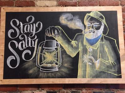 Stay Salty - 4'x3' Chalkboard