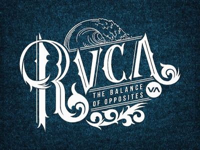 RVCA Surf 'n' Turf graphic design illustration drawing art typography letters lettering hand-lettering hand lettering