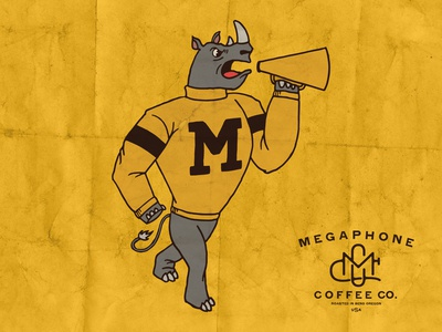 Megaphone Coffee Rhino Design