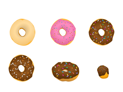 Late night donuts illustration sweets glazed chocolate donuts desserts