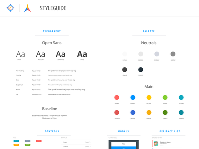 Style guide Layout typogaphy color palette style guide