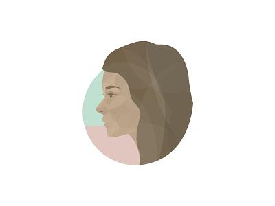 Jocelyn profile portrait woman illustration