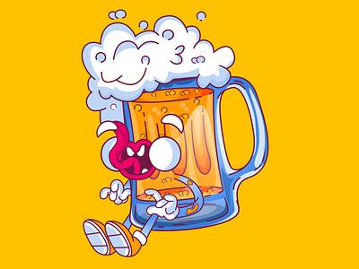 Beer illustration art vector cartoon character artifyplanet illustration design cartoon branding animation illustration art cartoon illustration