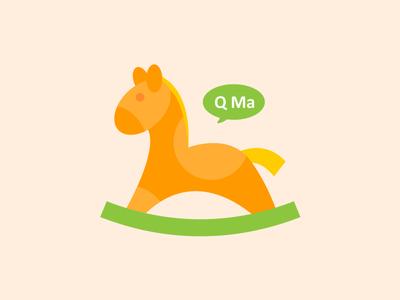 Q Ma logo  logo q ma rocking horse children clothing