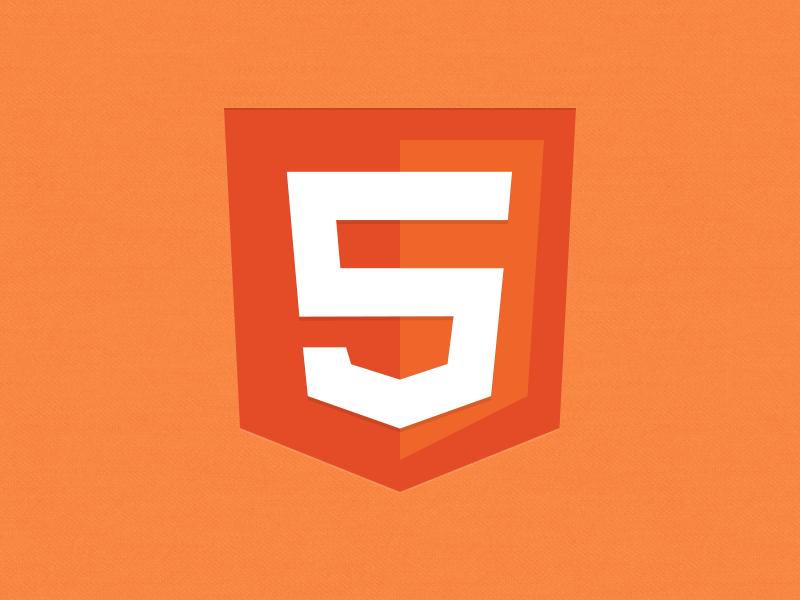 HTML5 logo icon PSD Fr...