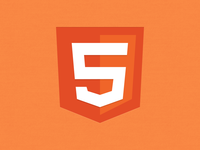 HTML5 logo icon PSD Freebie download