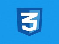 CSS3 logo icon PSD Freebie download