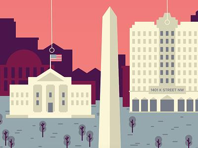 DC vibes monument skyline building district white house city map illustration architecture washington dc