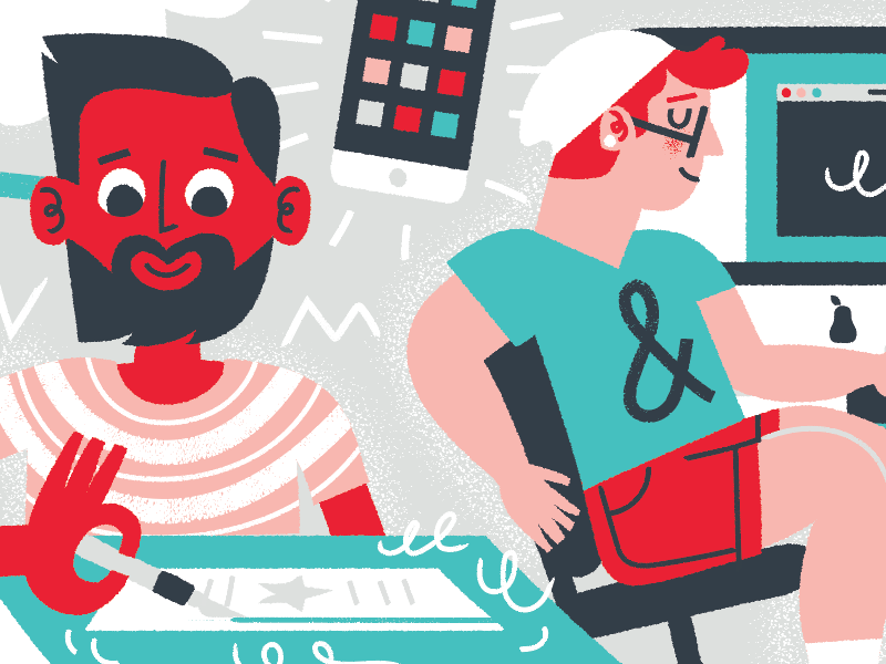 in production illustria typography graphic studio character creative palette desktop mobile xacto designer illustration