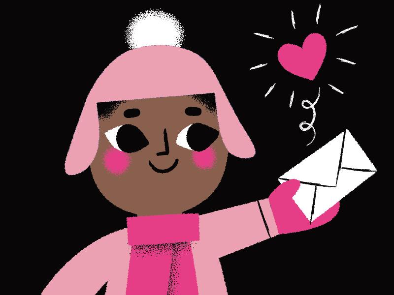 one dribbble invite! invitation letter character prospect draft illustration dribbble invite