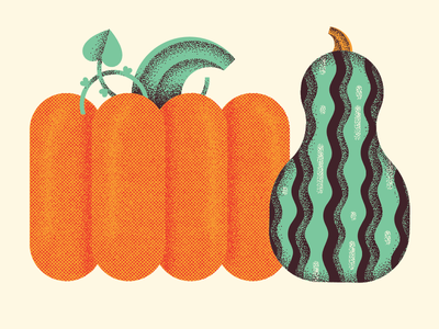 squash friends garden halloween pumpkin fall autumn food squash plant illustration