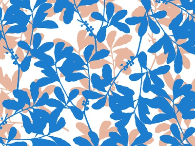 Blue soft Brown Foliage botanical illustration garden pattern design pattern flower botanical art floral abstract design pattern designer