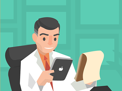 New animation in the works medical doctor animation illustration