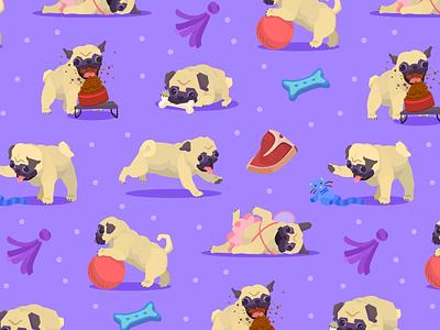 Pug Pattern fun] puppies pups pattern puglife pug dog