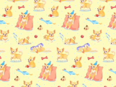 Chihuahua Pattern cute fun print fabric chicken chew toy bone pattern puppy chihuahua dog