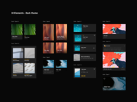 UI Elements - Dark theme
