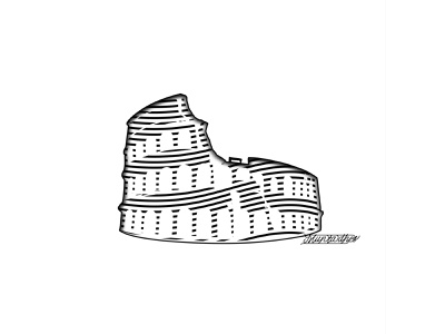 The Colosseum line art inspiration design logo iraq muntadher saleh