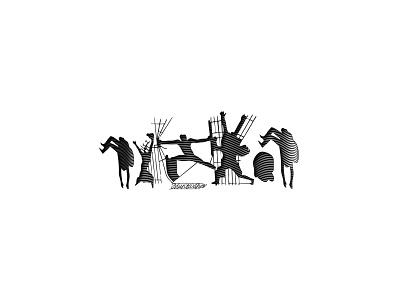 Iraqi Freedom Line Art illustration design logo inspiration iraq muntadher saleh