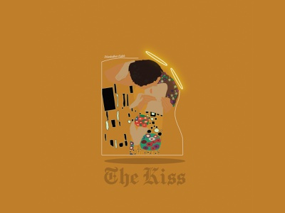 The Kiss Art Deco vector art deco graphic design illustration design inspiration muntadher saleh