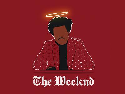 The Weeknd Art Deco vector illustration logo design inspiration muntadher saleh graphic design