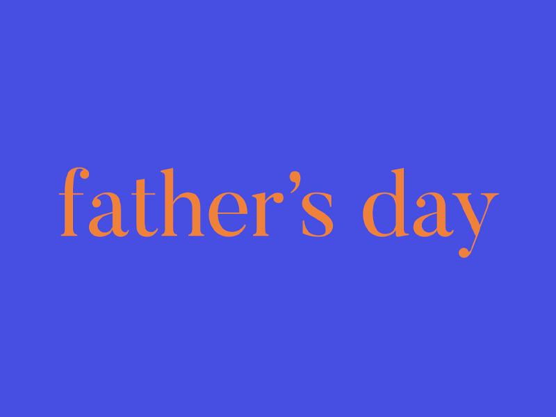Father's Day 2019 Proposal #2 rad dad father dad daddy fathers day simple minimal serif logo serifs serif font orange blue serif butler red god church christian jesus crosswalk