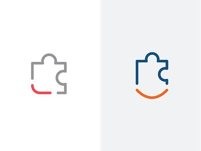 Puzzle Logomark logomark smile puzzle