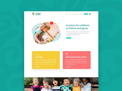 Childcare Homepage wip kids school children cards organic homepage childcare