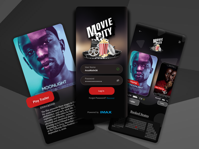 Movie Theatre Booking Application UI Design mobile app design typography mobile ui mobile mobile app app dailyui userinterface ui figma dribble shot dribble designinspirations design branding