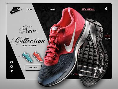 Nike Store UI Design Concept trending ui latest web minimal flat dailyui userinterface ui figma dribble shot dribble designinspirations design branding