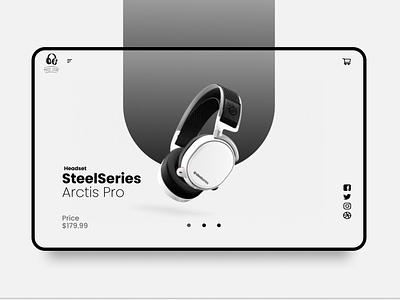 SteelSeries Shop UI Design userinterface website minimal web flat ui dribble shot designinspirations design branding