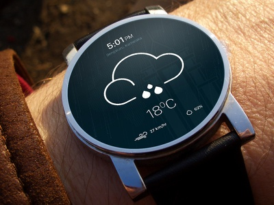 Weather app concept design concept ui weather androidwear wear android
