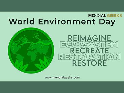 World Environment Day mondialgeeks poster digitalart designinpiration graphic design adobe design generationrestoration fronature environmentday worldenvironmentday