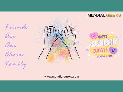 Friendship day mondialgeeks graphics topicalpost friends friendship branding digitalart designinpiration adobe graphic design design